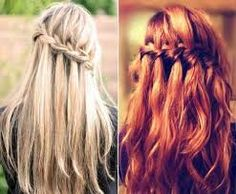 red waterfall plait - Google Search
