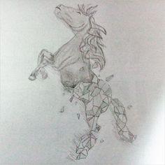 pixel horse
