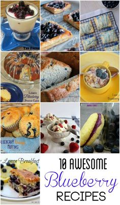 10 Awesome Blueberry Recipes