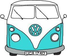 «Retro Blue VW Van» de rileyr21