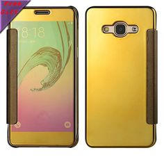 For Samsung J7 cases (2015) Window Clean View Mirror Smart Flip Plastic Cover & PU Leather case For Samsung Galaxy J7 J700F