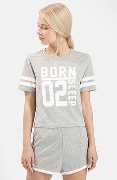 Topshop 'Born to Sleep' Short Pajamas available at #Nordstrom