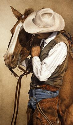 Shop for cowboy art from the world's greatest living artists. All cowboy artwork ships within 48 hours and includes a money-back guarantee. Choose your favorite cowboy designs and purchase them as wall art, home decor, phone cases, tote bags, and more! Films Western, Arte Equina, Westerns, Double Exposition, Art Watercolor, Cowboy Horse, Canvas Art, Canvas Prints, Framed Prints