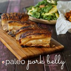 OH. MY. FOOD. This paleo pork belly recipe is amazing! The crackling was actually crunchy and the meat was soft and juicy. We love pork belly!