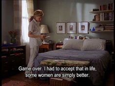 Game over. I had to accept that in life some women are simply better. Sex and the city quotes. City Quotes, Movie Quotes, New York Quotes, The Carrie Diaries, Fabulous Quotes, Word Of Advice, Carrie Bradshaw, Quote Aesthetic, Movies And Tv Shows