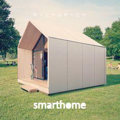 Luxury Modular Prefab Home Modern Tiny House, Tiny House Cabin, Modern House Plans, Tiny House Design, Dome House, Prefab Homes, Small Prefab Cabins, Container House Design, Loft Design