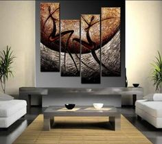 African art on dhgate... Beautifull art AND a nice idea to have it split up in uneven parts