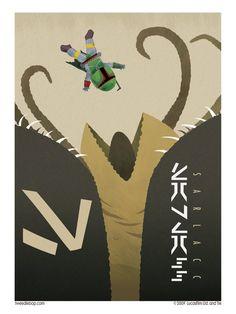 """S is for Sarlacc"" is one illustration in a series called ""Star Wars ABC"" by tweedlebop. Star Wars Poster, Star Wars Art, Mundo Geek, Original Trilogy, Star Wars Rebels, Love Stars, Geek Art, Boba Fett, Geek Stuff"