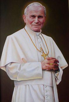 """""""Papa João Paulo II"""".  (264º Papa). Nome: Karol Józef Wojtyla. (* Wadowice, 18/Maio/1920 - Vaticano, 02/Abril/2005)."""
