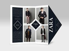 ZARA Brochure (Personal Project) by Caroline Azariah, via Behance