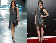 Anne Hathaway stuns again wearing another #SwarovskiCollective designer--#Rodarte--to the US premiere of Interstellar