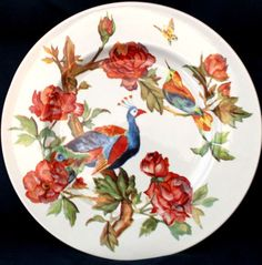NEW-Peacock-Rose-Andrew-Tanner-Royal-Stafford-X-Large-Serving-Plate-12-1-3
