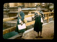 BOYS IN HAKAMA -- Going to School in Old Japan by Okinawa Soba, via Flickr