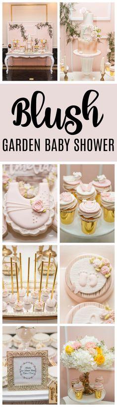 Blush Garden Themed Baby Shower - Pretty My Party