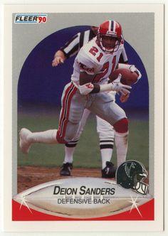 Deion Sanders # 382 - 1990 Fleer Football