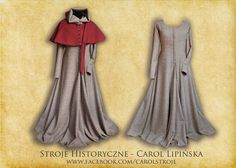 Late medieval gown cottehardie dress  middle age  XVth century