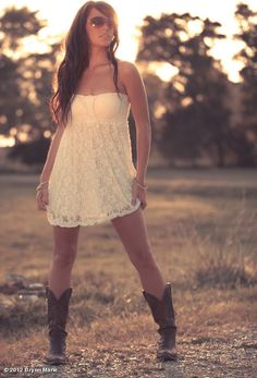 Gorgeous dress and boots for country concert