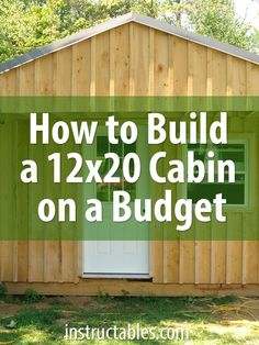 Building a cabin yourself is much more economical than buying a prefab storage shed. The cost of materials for this build, including doors and windows, was around. Tiny House Cabin, Tiny House Plans, Shed Cabin, Cabin Kits, Tiny Cabin Plans, Shed To Tiny House, Boat House, House Floor, Ideas De Cabina