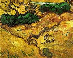 Field with Two Rabbits Vincent van Gogh - 1889
