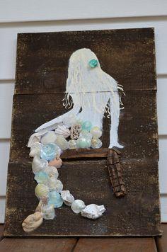 Vintage Wooden Mermaid Sign by Simplebeachsigns on Etsy