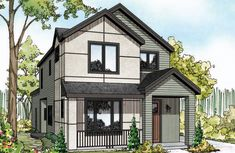 New House Plan - Larkspur II - 30-882 - Contemporary Home Plan - by Associated Designs