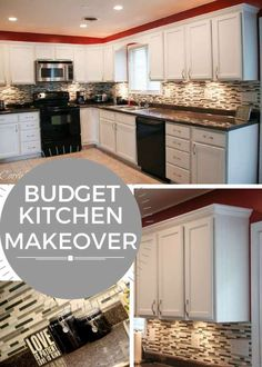 This is a must-read if you want to make major changes in a kitchen on a budget! Budget Kitchen Makeover