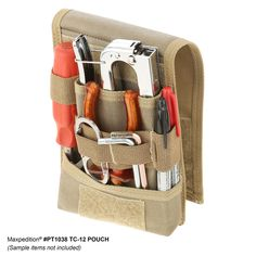 Multi-purpose tool pouch designed for your every day micro-organizational needs. Tactical Pouches, Edc Tactical, Accessoires Molle, Tool Pouch, Leather Craft, Final Sale, Gears, Sewing Patterns, Survival