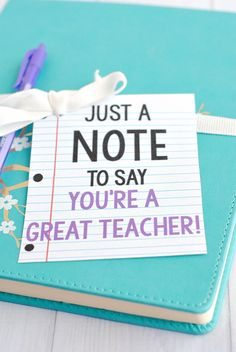DIY Teacher Gifts - Note Gift Idea - Cheap and Easy Presents and DIY Gift Ideas for Teachers at Christmas, End of Year, First Day and Birthday - Teacher Appreciation Gifts and Crafts - Cute Mason Jar Ideas and Thoughtful, Unique Gifts from Kids http://diyjoy.com/diy-teacher-gifts