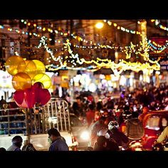 """@prabalgurung's photo: """"New Road, Kathmandu all lit up for tonight's Laxmi Puja, deewali, which is also known as Festival of Lights. This is the day we all worship Goddess Laxmi so she will bless us with fortune. Oh how I miss home xoPG pics by @kashishds"""""""