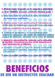 beneficios de ser un instructor shachah