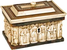 Extremely Fine and Rare 15th Century Embriachi Workshop Casket