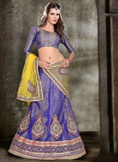 Impressive Blue #Net #Lehenga #Choli