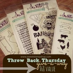 giveaway over on the Sweet Stamp Shop blog!