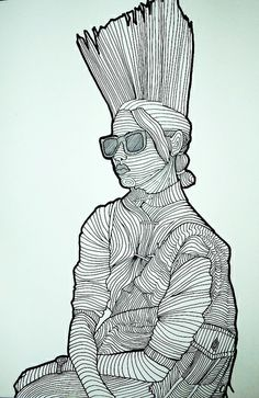 Cross Contour Drawing by intheartroom, via Flickr