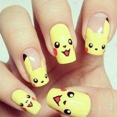 Nail art Pikachu