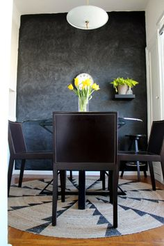 west elm's MIAC Whirlwind Jute Rug in an apt makeover by @Gaby Saucedo Saucedo Burger