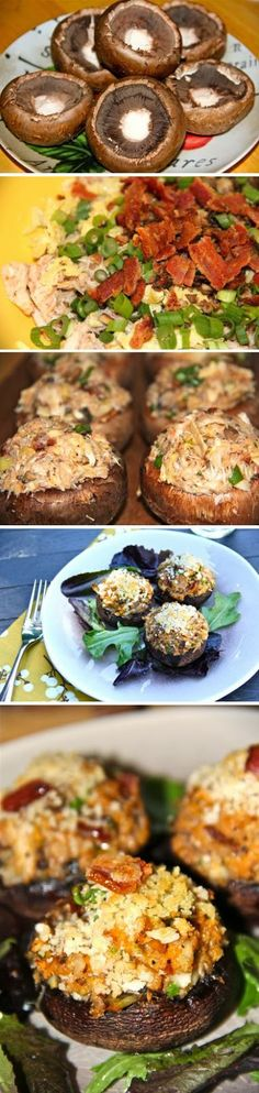 Exclusive Foods: Artichoke And beef Stuffed Mushrooms