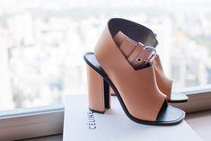 Céline nude buckle sandals via Adelaide