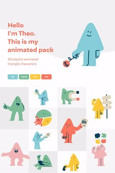 Set of 20 playful character animated poses perfect for Digital Marketing Agencies, Technology Companies, Startups, or busy Designers. Theo Animations include minimal and very clean outline illustrations and animations you could use for Landing Page, Mobile App, Website, Webflow Template, or Presentation. #illustrations
