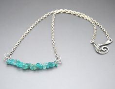 Apatite Chip Focal Short Necklace by NecklaceNurse