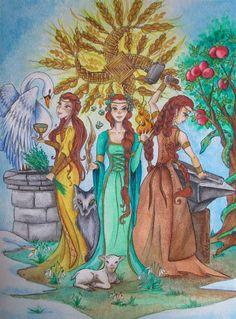 Brigid by NahimaArt Brighid Goddess, Celtic Goddess, Mythology Books, Celtic Mythology, Vikings, St Bridget, Goddess Symbols, Triple Goddess, Sacred Feminine