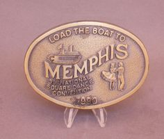 1990 Memphis Square Dance Convention belt buckle available at our eBay store! $25