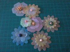 Mi Scrap: Flores de vellum