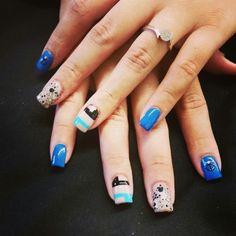 #glitter #anchor #blueblack #arleencontysalon