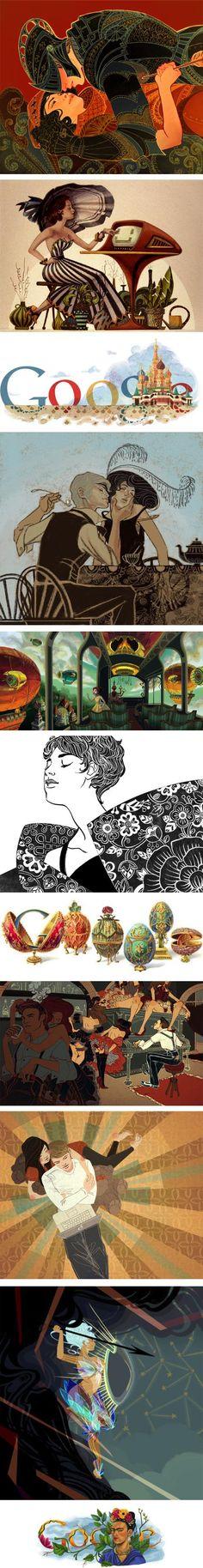 Jennifer Hom, google doodles and personal work