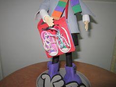 Detalle del bolso de una fofucha personalizada .Esta hecho totalmente a mano y en goma eva. elenamartinlopez.blogspot.com