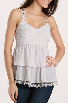 Cecico Nina Tank in Silver - Beyond the Rack
