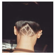 My new nape undercut in a subtle lotus design.  @amymcelhoes
