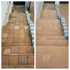 Lépcső tisztítása és csúszásmentesítése