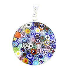 "Murano Glass Millefiori Pendant in Silver Frame 7/8"" GlassOfVenice http://www.amazon.com/dp/B000J4IICO/ref=cm_sw_r_pi_dp_e4U3wb0QTA5ZS"